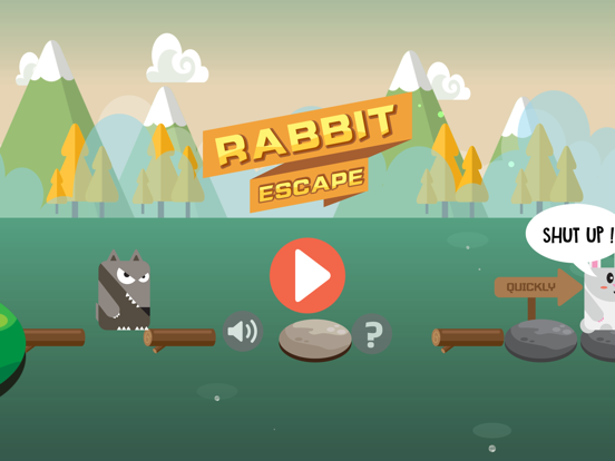 Rabbit Escape-Water jump screenshot 4