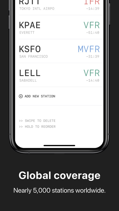 METAR Widgets App 截图