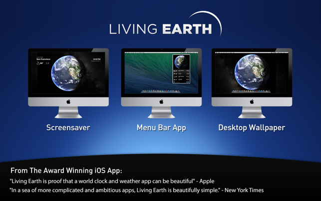 ‎Living Earth - Weather & Clock Screenshot