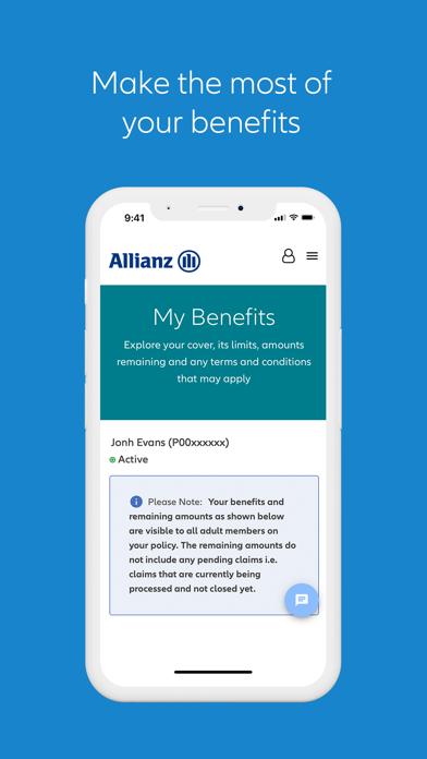 Allianz MyHealthScreenshot of 3