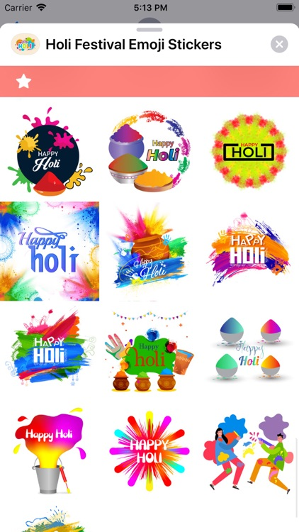 Holi Festival Emoji Stickers screenshot-7