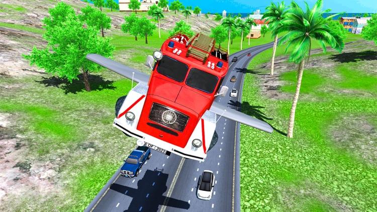 Real Flying Fire Truck Robot screenshot-5
