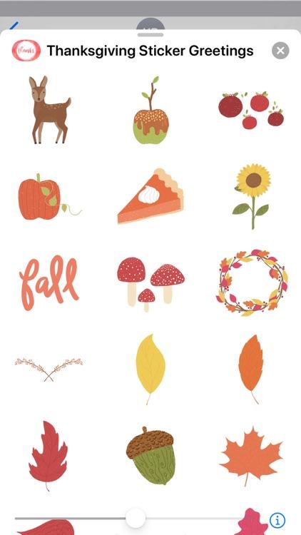 Thanksgiving Sticker Greetings screenshot-5