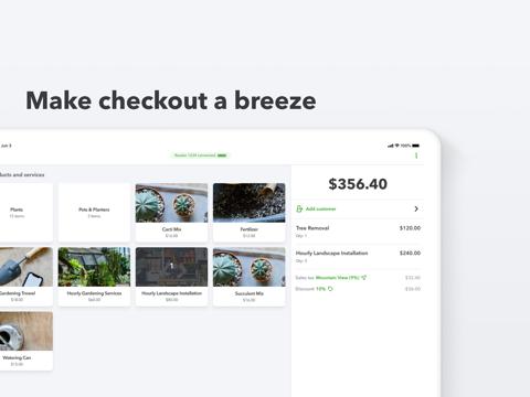 Screenshot of QuickBooks GoPayment POS