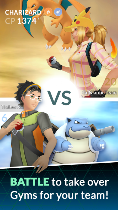 Screenshot from Pokémon GO