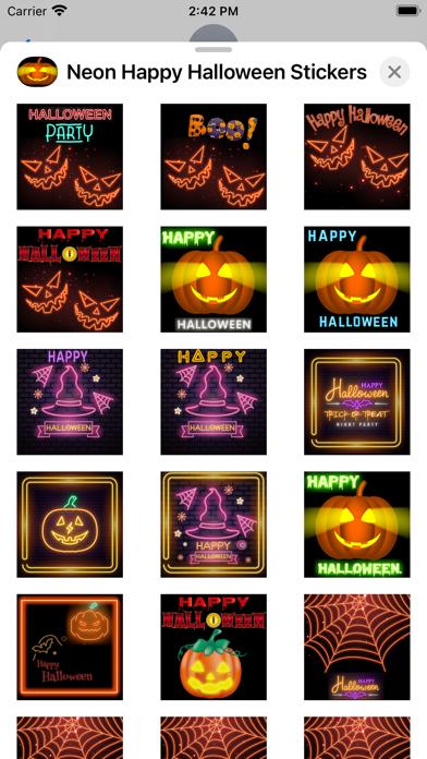 Neon Happy Halloween Stickers screenshot 5