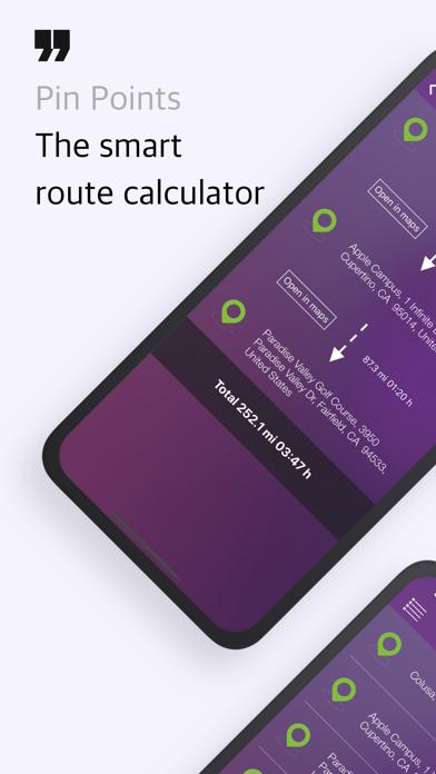 Pin Points Distance Calculator Screenshots