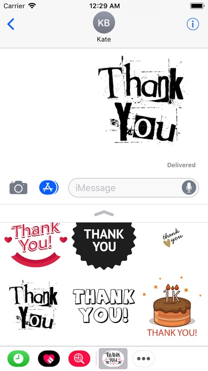 Thank You Stickers 2018