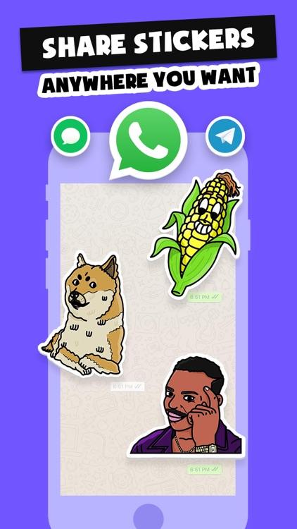 Stickers Funny of Meme & Emoji screenshot-5