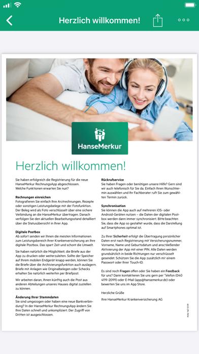 HanseMerkur RechnungsAppScreenshot von 5