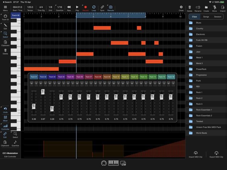 Helium AUv3 MIDI Sequencer screenshot-3