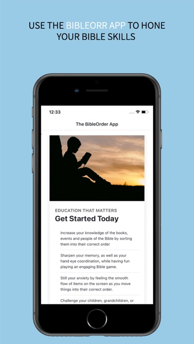 the BibleOrder App screenshot 1