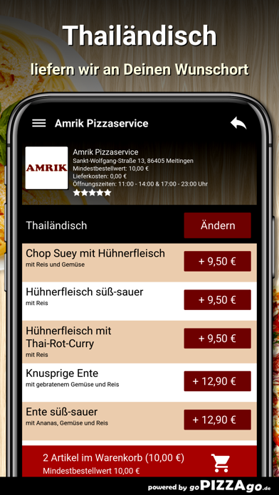 Amrik Pizzaservice Meitingen screenshot 6