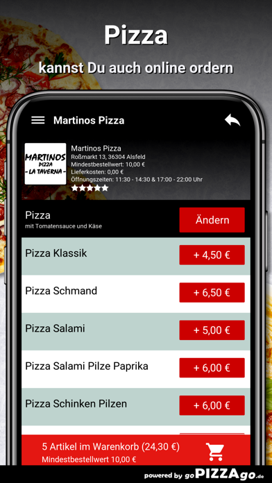 Martinos Pizza Alsfeld screenshot 6
