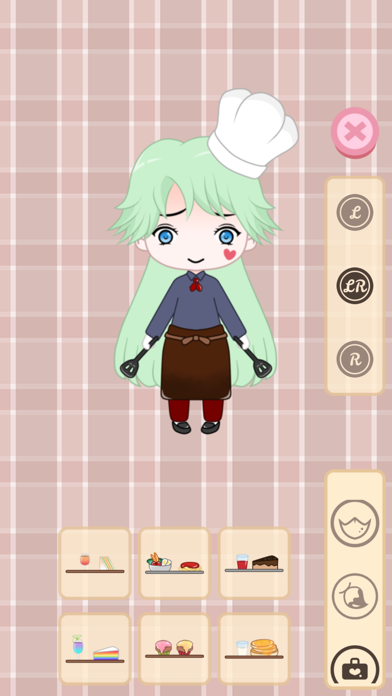 Cafegal - Dress up mini cafe screenshot 2