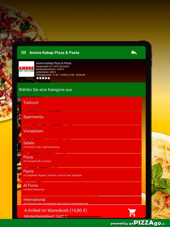 Amore Pizza Donzdorf screenshot 8