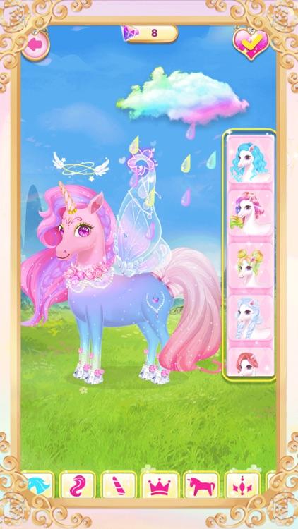 Princess unicorn dress up game screenshot-3