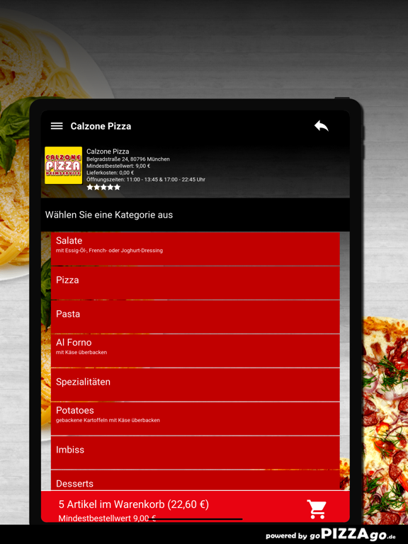 Calzone-Pizza München screenshot 7