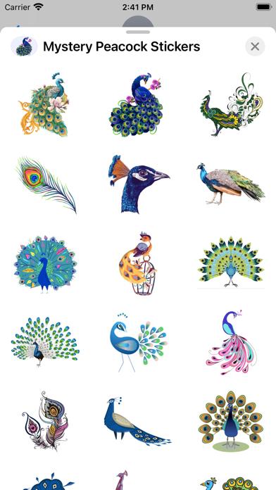 Mystery Peacock Stickers screenshot 2