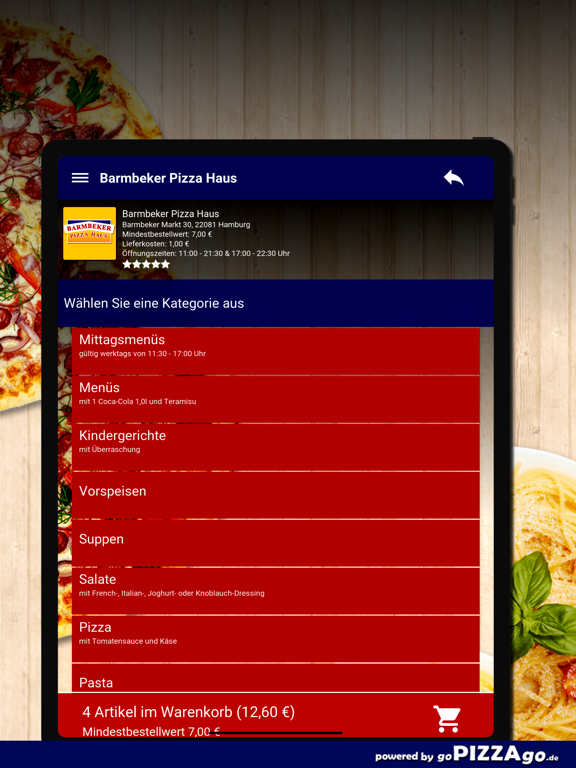 Barmbeker Pizza Haus Hamburg screenshot 8