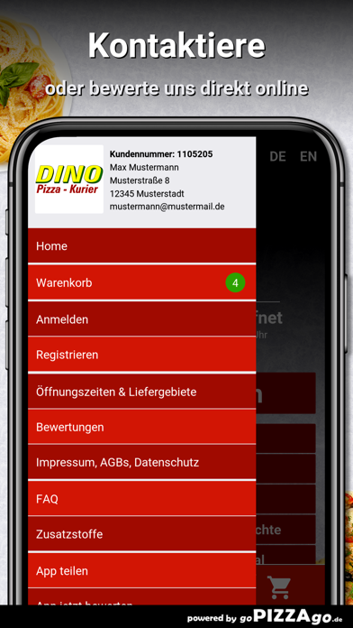 Dino Pizza Kurier Fürth screenshot 1