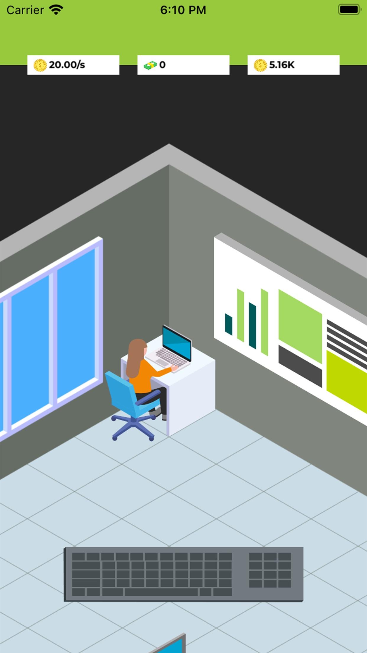 Screenshot do app Devtopia Idle Game