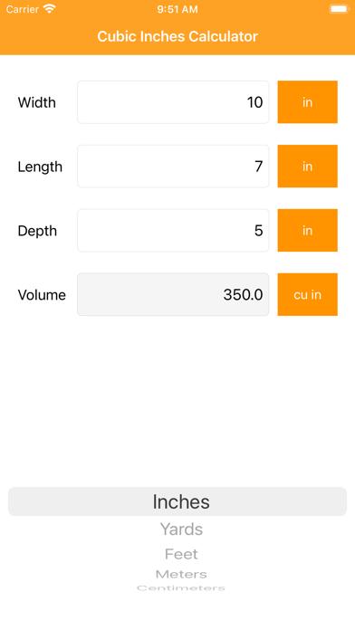 Cubic Inches Calculator Pro Screenshot