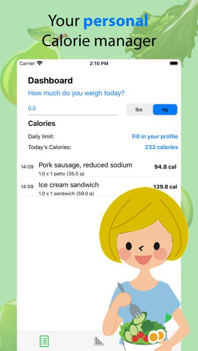 Calorie checker screenshot 1