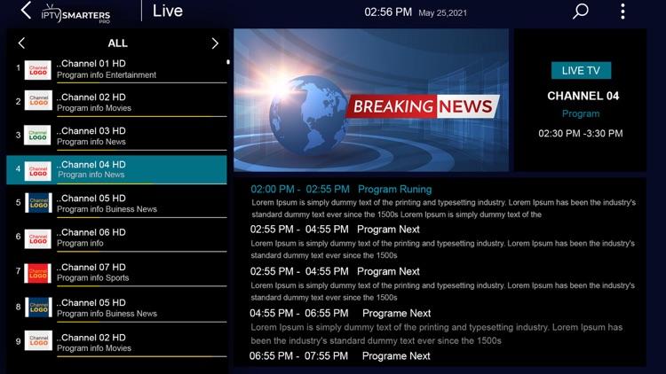 IPTV-Smarters Player screenshot-4