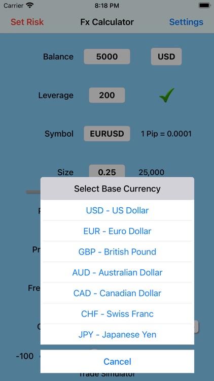 Forex Trade Calculator screenshot-4