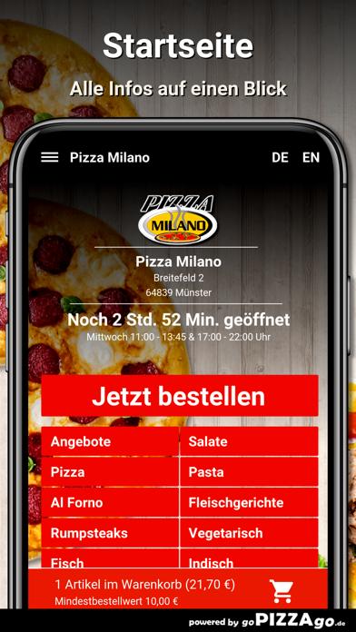 Pizza Milano Münster screenshot 2