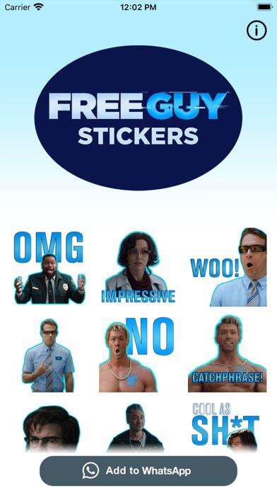 Free Guy Stickers screenshot 1
