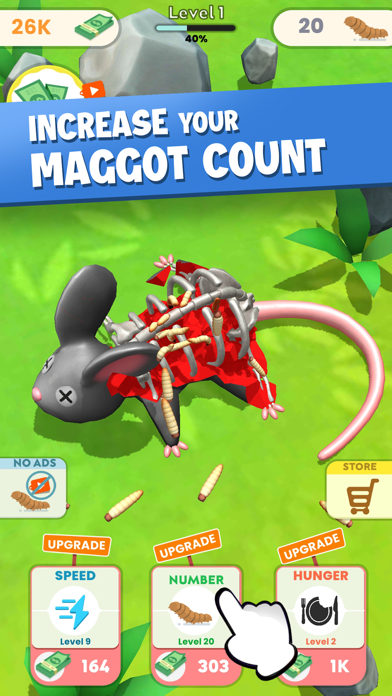 Idle Maggots - Simulator Game screenshot 2