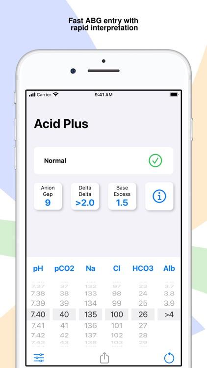 Acid Plus - The ABG Calculator screenshot-4