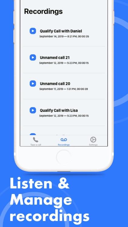 Record Phone Call & Listen screenshot-4