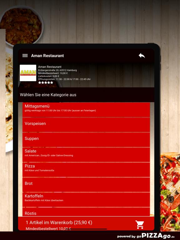 Aman Restaurant Hainburg screenshot 7