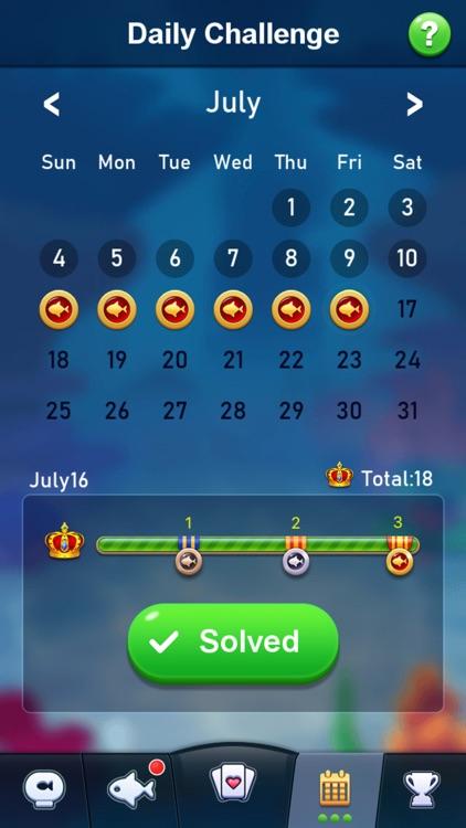 Solitaire Klondike Fish screenshot-3
