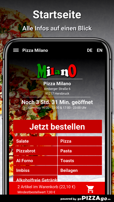 Pizza Milano Hersbruck screenshot 2
