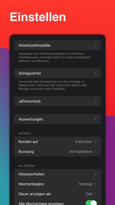 WorkTimes - ZeiterfassungScreenshot von 8