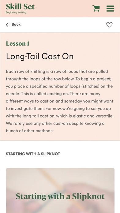 Skill Set: Beginning Knitting screenshot 4