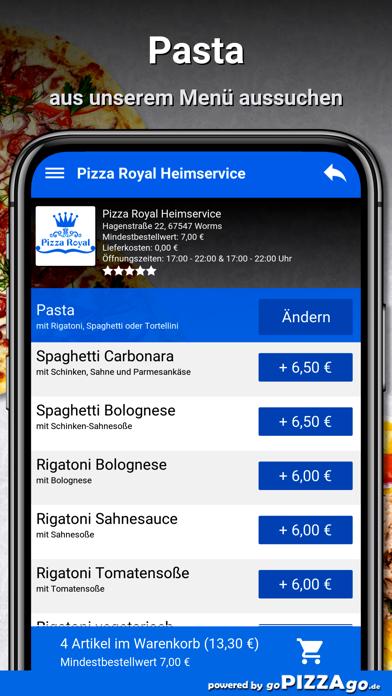 Pizza Royal Heimservice Worms screenshot 5