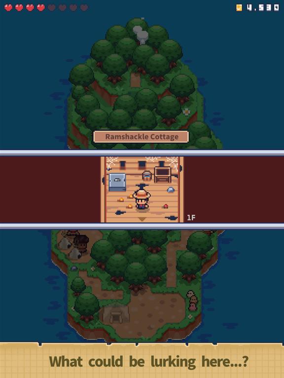 Tiny Island Overleven iPad app afbeelding 3