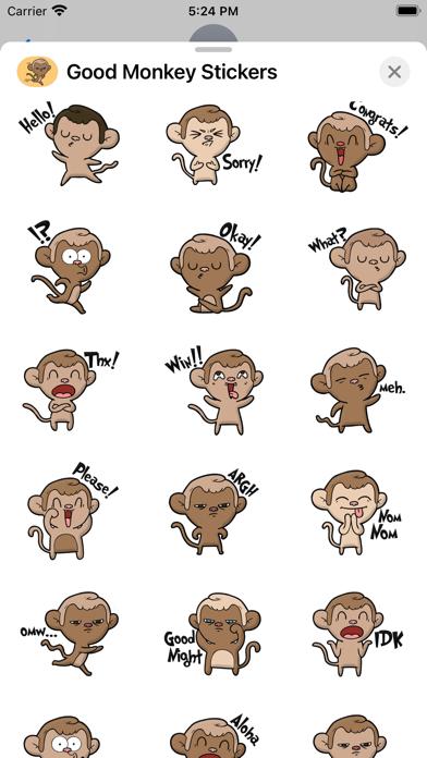 Monkey Emotion Stickers screenshot 3