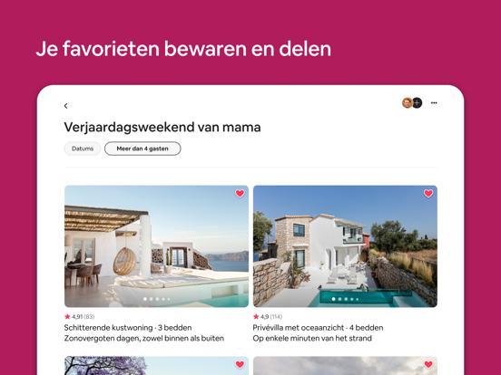 Airbnb iPad app afbeelding 4