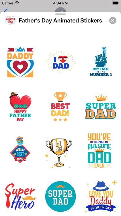 Father's Day Animated Stickers screenshot-7