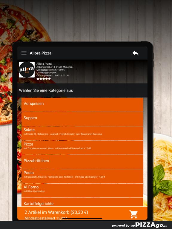 Allora Pizza München screenshot 8