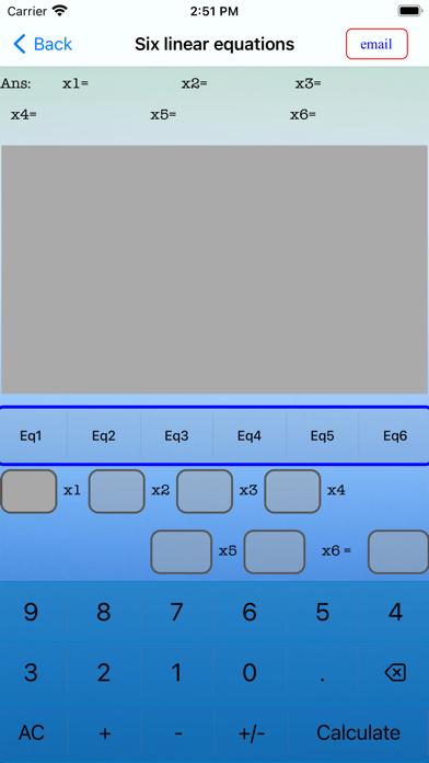 Screenshot of EqSolver Pro Calculator App