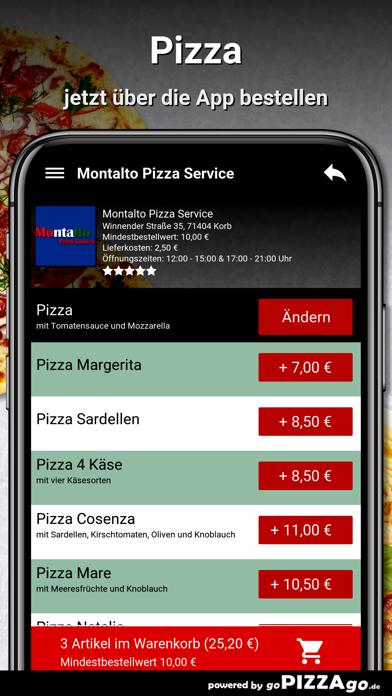 Montalto Pizza Service Korb screenshot 5