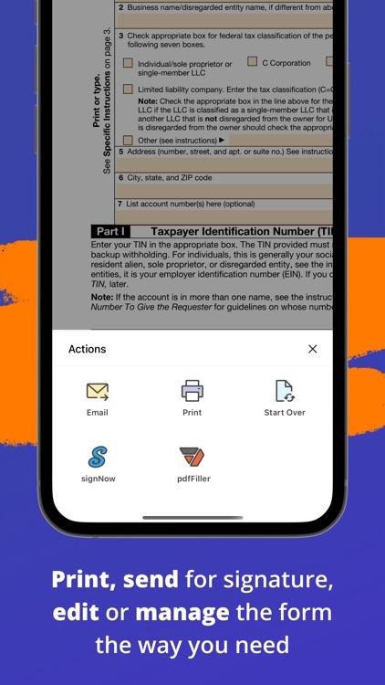 W-9 Form - PDF Template screenshot-5