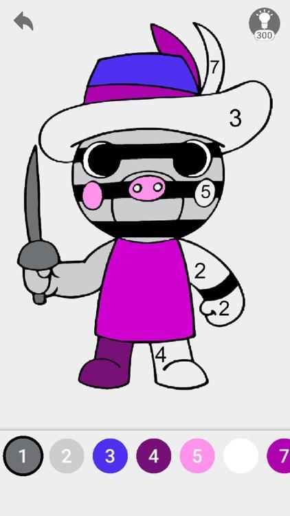 RoboxColor - Piggy Coloring screenshot-4